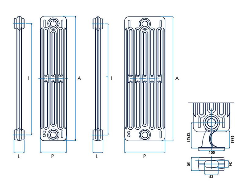 Radiatori in ghisa radiatori in ghisa with radiatori in for Radiatori ghisa ferroli